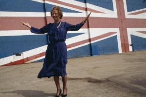 In front of the world's largest Union Jack - 1983