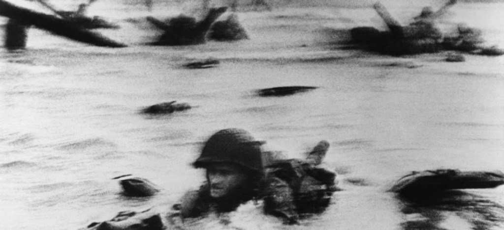 6 juin 1944 devant Omaha Beach: Huston Riley, par Robert Capa