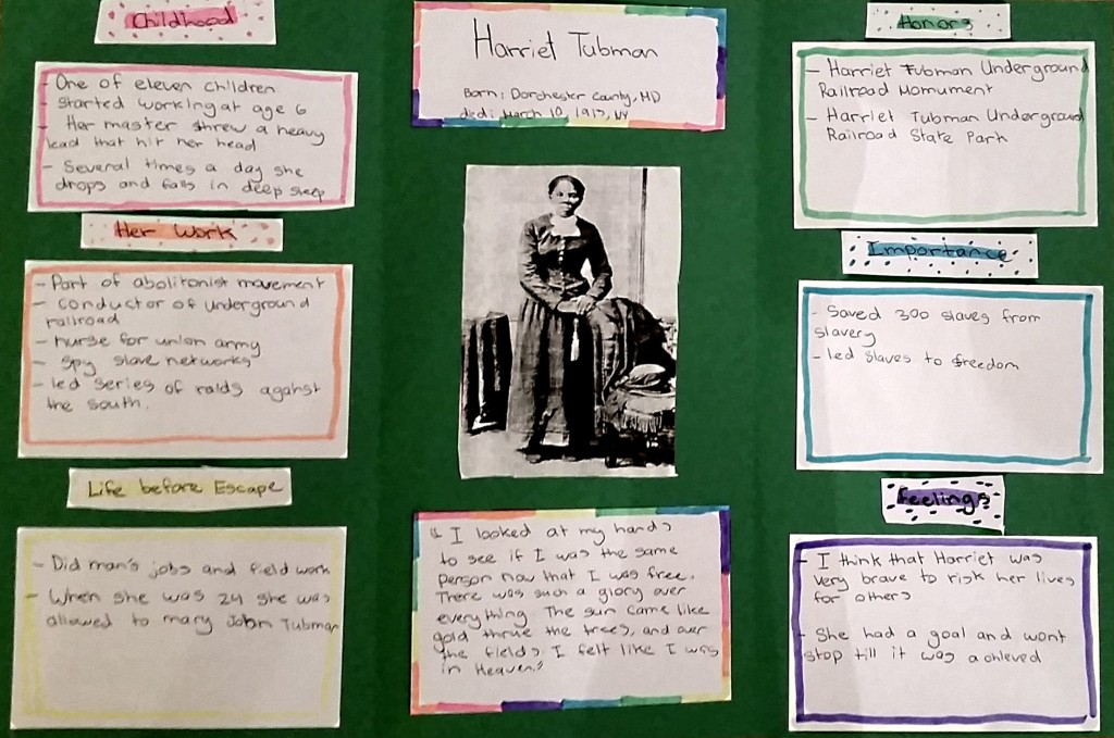 Poster sur Harriet Tubman - Biographie